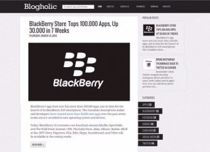 blogholic blogger template