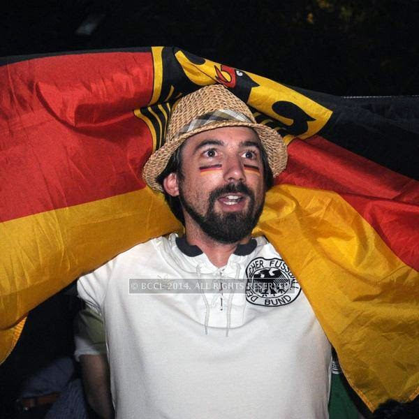 Matthais during the 2014 FIFA World Cup final screening, held at Germany embassy, in New Delhi, on July 13, 2014.