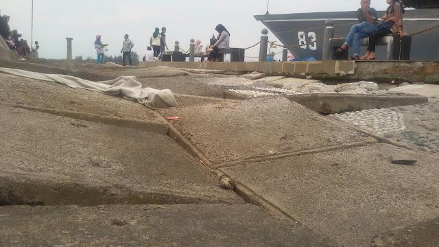 Jelang Hoyak Tabuik, Lantai Terban di Monumen AL Belum Diperbaiki