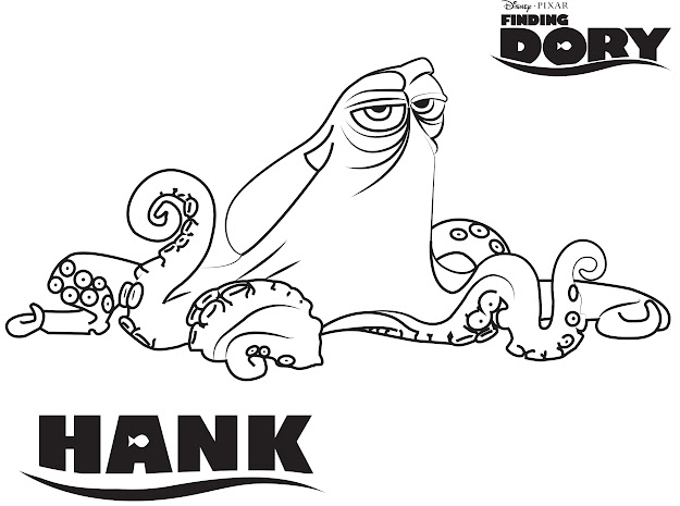 Disneys Finding Dory Hank Coloring Page