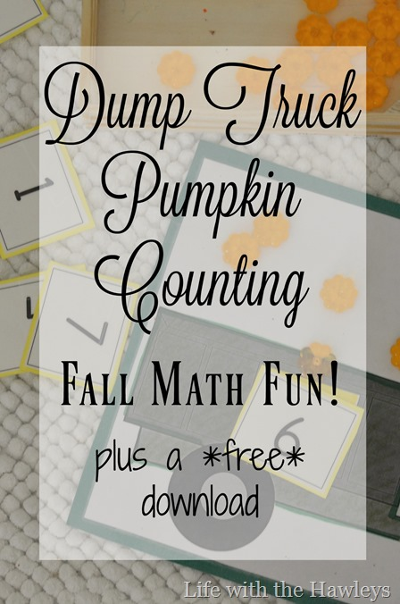 Dump Truck Pumpkin Counting- Life with the Hawleys