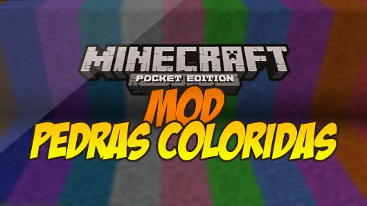 Mod adicionará pedras coloridas no seu minecraft pe 0 9 x