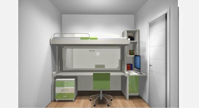 Como amueblar una habitacion juvenil peque a for Distribucion habitacion juvenil