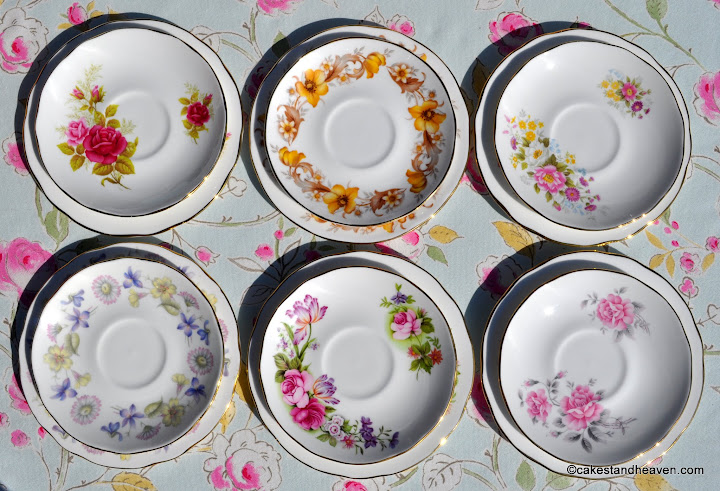 Duchess bone china vintage saucers