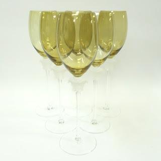 Rosenthal Versace Set 6 Wine Glasses