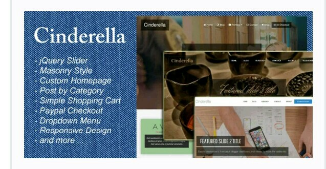 Cinderella responsive blogger template