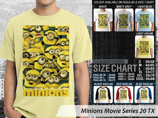 Kaos Kartun Minions Movie Series 20 distro ocean seven