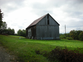 The Abbott barn prior to restoration.