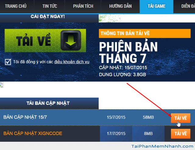 tải bản cập nhật game Fifa online 3