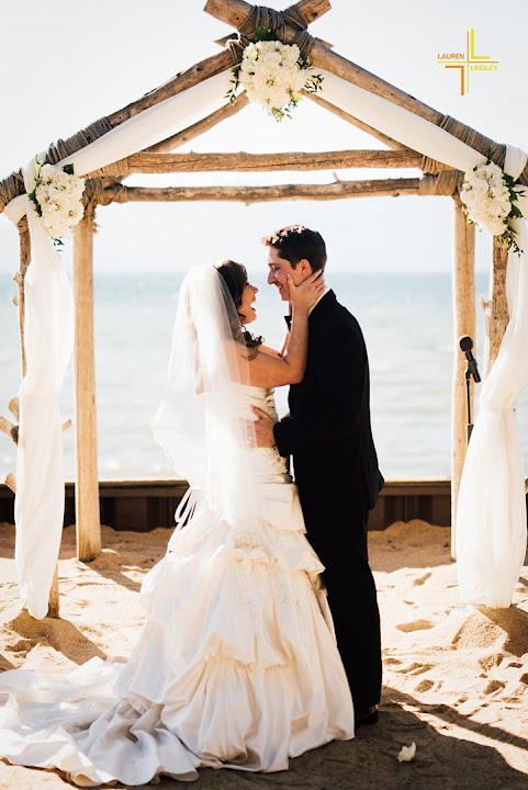Lakeside Beach Wedding