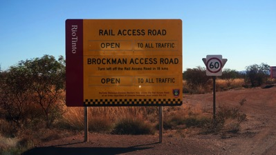 Rail Access Road Sign
