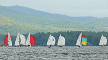 J/22s sailing Lake George Regatta