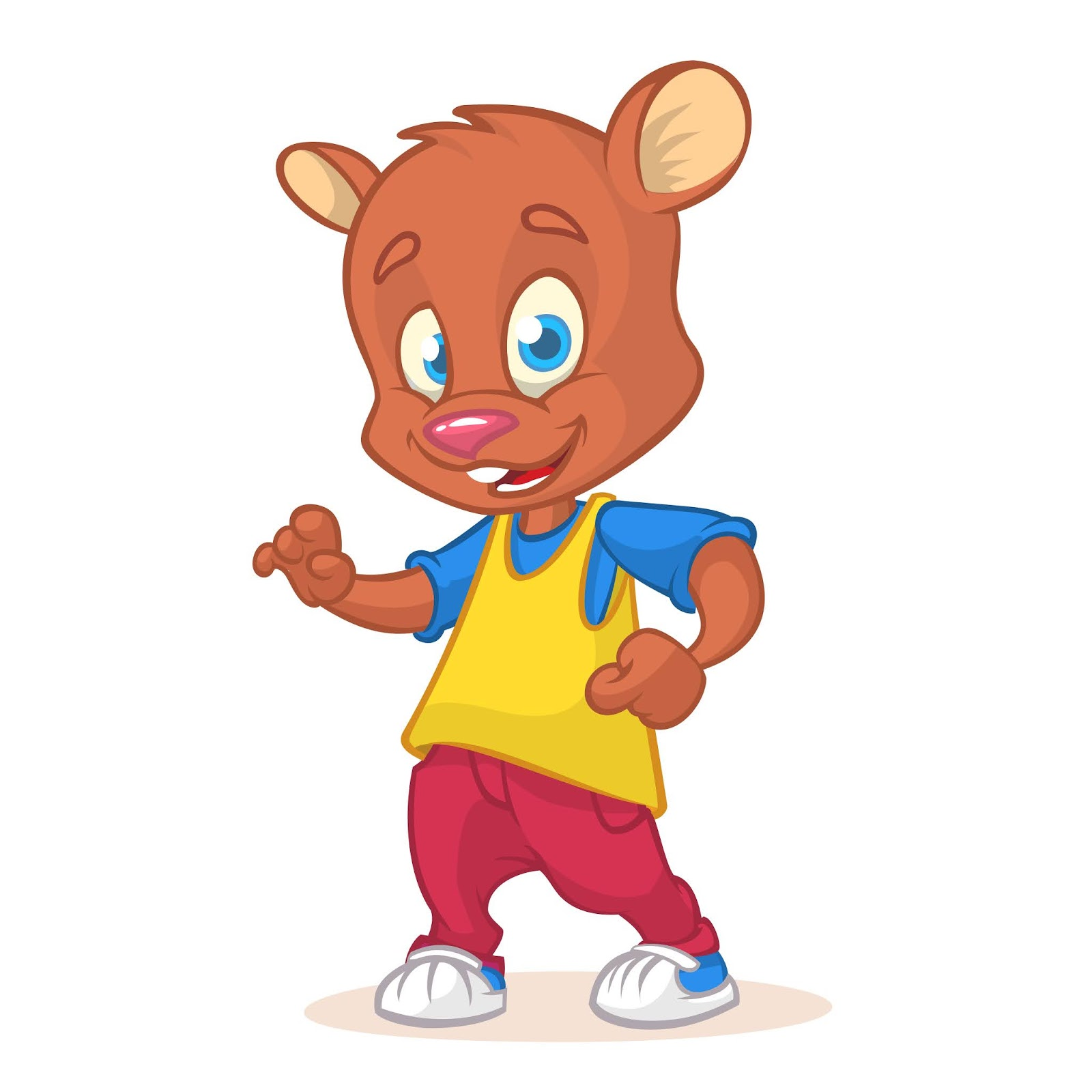 Cartoon Funny Bear Free Download Vector CDR, AI, EPS and PNG Formats