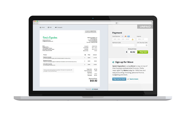 Invoice By Wave Chrome Web Store - Wave invoice software