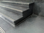 Black Galaxy Steps, antislip bronze line