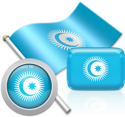 Turkic Council flag icons pictures collection