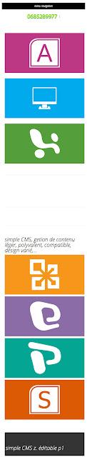 Bienvenue sur simple cms - simple CMS gestion de contenu simple et puissant - 480x320e