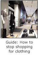 how to stop shopping for clothing
