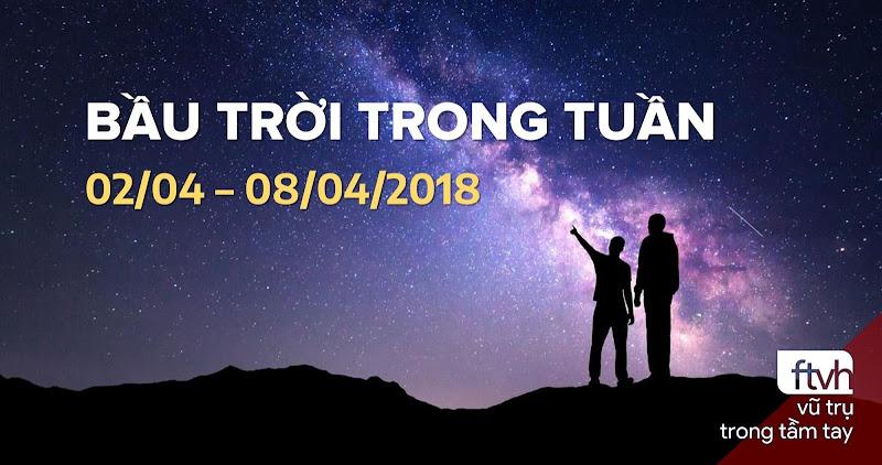 Bầu trời trong tuần từ 02/04 đến 08/04/2018