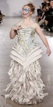 Madeline Stuart at New York Fashion Week 2014