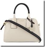 Kate Spade contrast trim leather shoulder bag