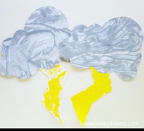 Storm Cloud Process Art: Scrape Painting + Color Mixing