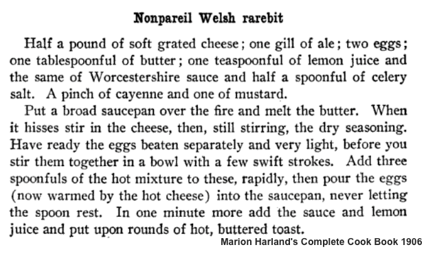 Nonpareil Welsh Rabbit | Marion Harland