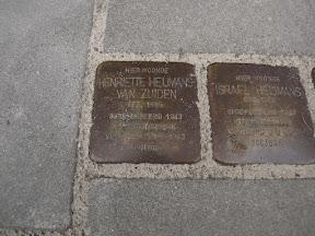 Waldeckstraat 4 Stolpersteine Israel Heijmans,Henriette Heijmans-van Zuiden.