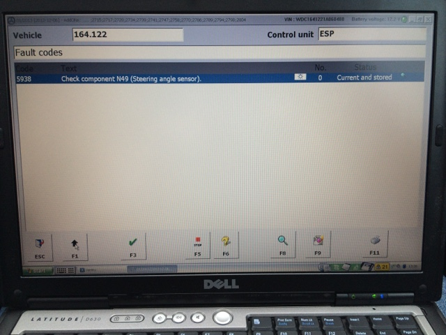 Dani's Auto log: Mercedes ML W164 Steering Wheel Angle Sensor