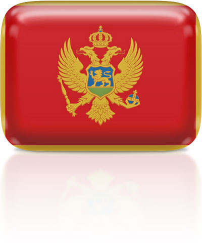 Montenegrin flag clipart rectangular