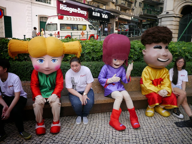 there Macau tourism mascots