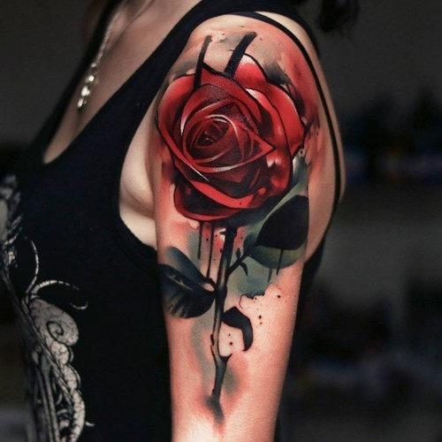 este_assombroso_rosa_vermelha_tatuagem