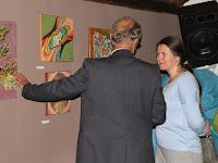 06 Művészek egymás közt, Kosorú Milan és Michaela Holotová-Bodnárová, fiatal festőművész.jpg