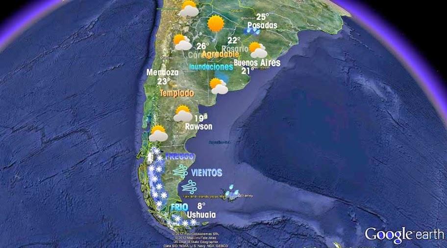 clima argentina mapa