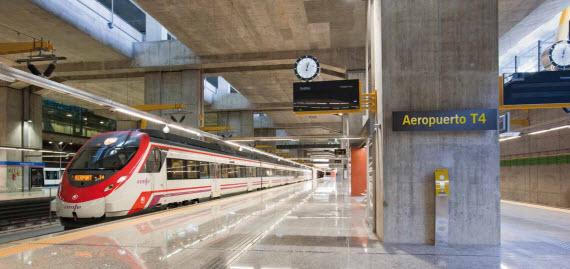 Un tren directo entre la estación de Atocha y el Aeropuerto de Barajas