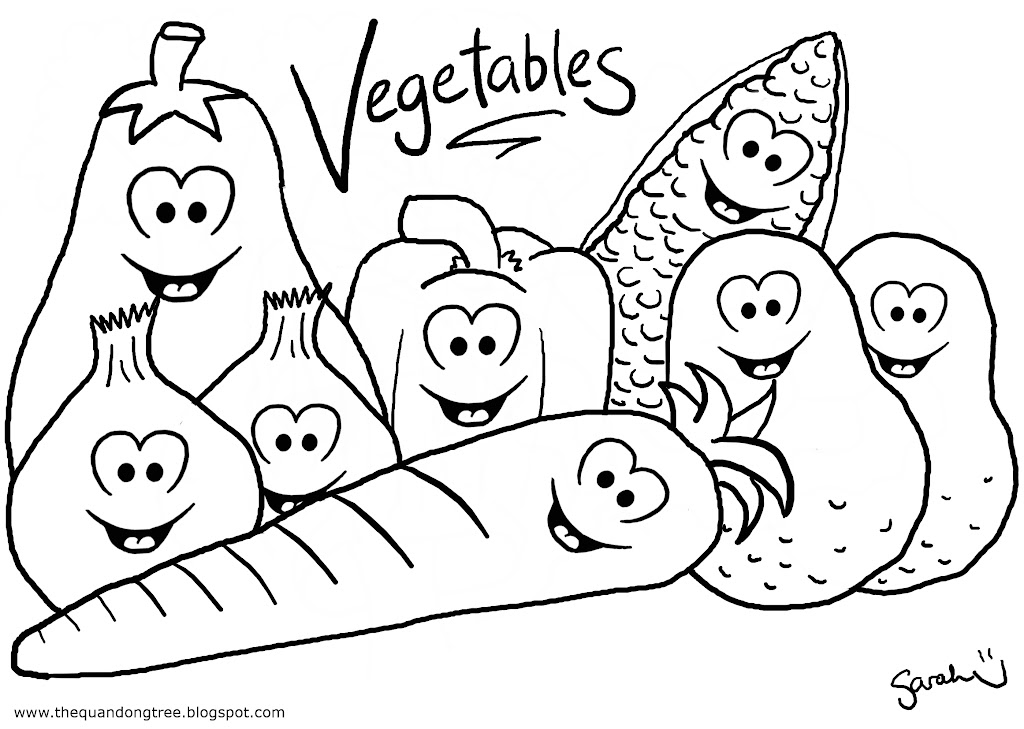 healthy food coloring pages | The Quandong Tree: Colouring Pages