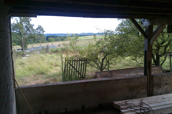 Stall ohne Mauer von innen...
