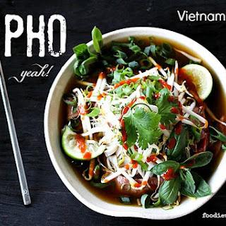 Pho {Vietnamese Beef Noodle Soup}.