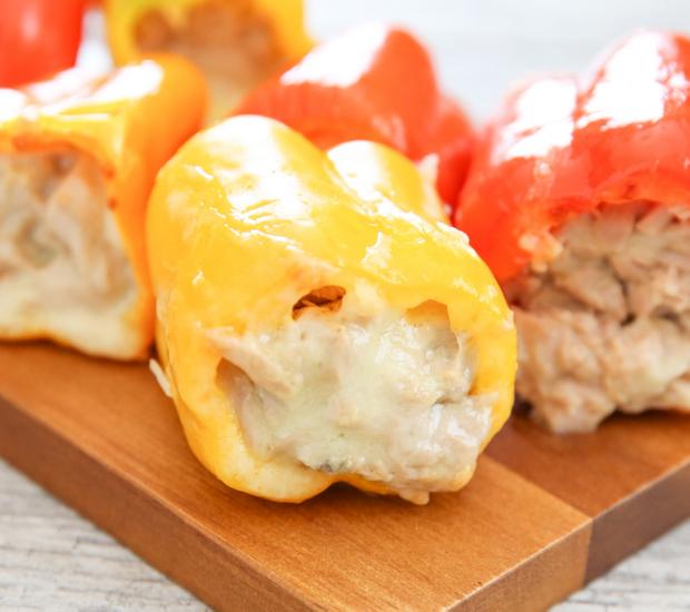 close-up photo of Stuffed Pepper Tuna Melts