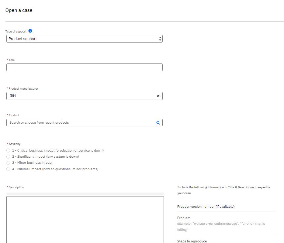 Create IBM Service Request