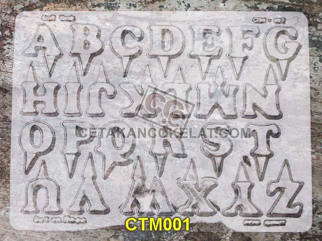 cetakan coklat cokelat huruf abjad alphabet alfabet CTM1 CTM001