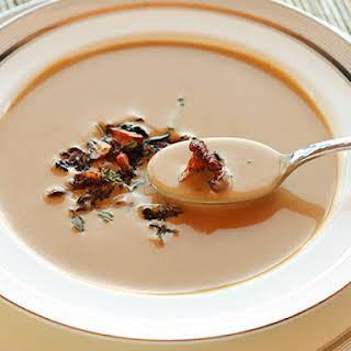 Creamy Chanterelle Mushroom Soup.