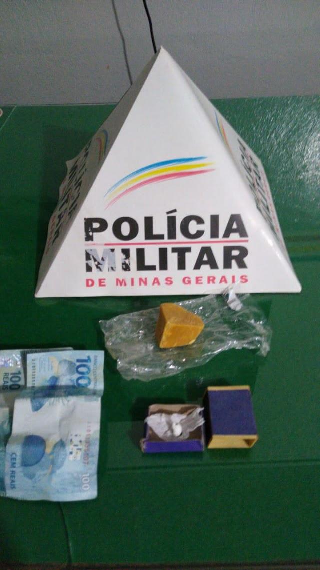 Divino: Após denúncias Polícia Militar apreende dois homens com crack; Intorpecente teria sido comprado em Muriaé