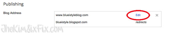 Dropping your blogspot URL