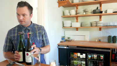 Chef Doug Weiler explains cider options for beverage service at Willow PDX