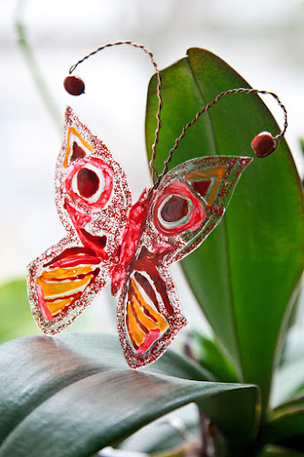 Handpainted Glass Butterfly by zmeyssHandMade