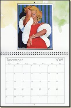 Eva Lynd 2019 calendar - December Eva