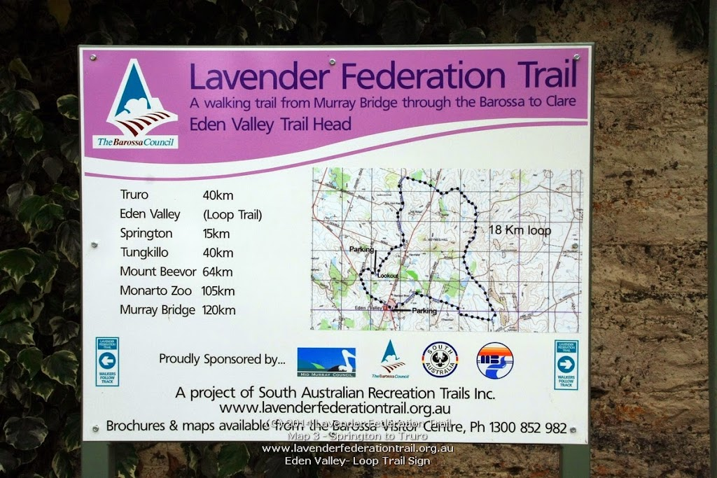 Eden Valley- Loop Trail Sign