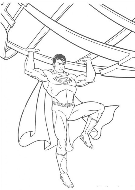 Superman Coloring Page Superman Coloring Page To Print   Thecoloringpage Picture