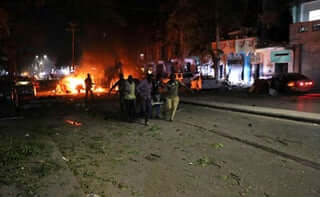 Car bomb blast in Somalia. PHOTO | AFP